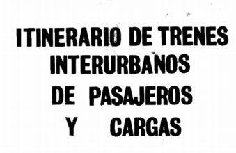 Photo of Itinerario FA Roca interurbano y cargas 1981