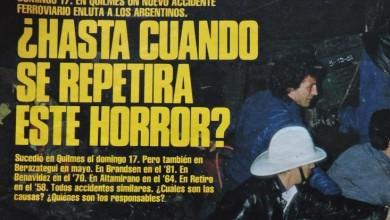 Photo of Choque de trenes en Quilmes – 1982