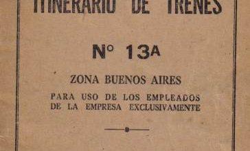 Photo of FA – Itinerario Fc Belgrano N° 13a Zona Bs.As 1958