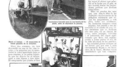 Photo of La vida del maquinista ferroviario – Caras y Caretas 25 de Abril 1914
