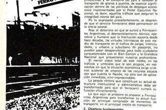 Photo of Plan de política ferroviaria 1987