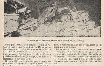 Photo of Accidente en Salta Tren 232 – 1949