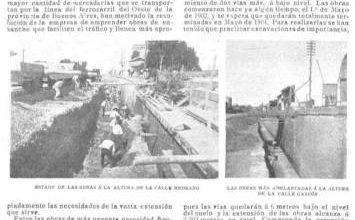 Photo of Construcción de la trinchera del Ferrocarril Oeste – 1903
