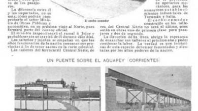 Photo of Primer coche comedor construido en el país y construcción puente río Aguapey – 1900
