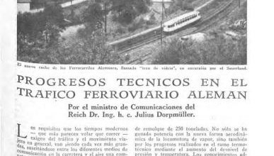 Photo of Progresos del Ferrocarril alemán – 1937