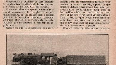 Photo of Ensayo de locomotora a turbina en los Fc del Estado – 1926